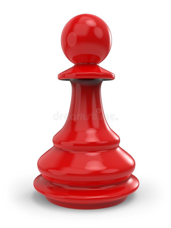 Enkelt rött klassiskt schack pantsätter stock illustrationer
