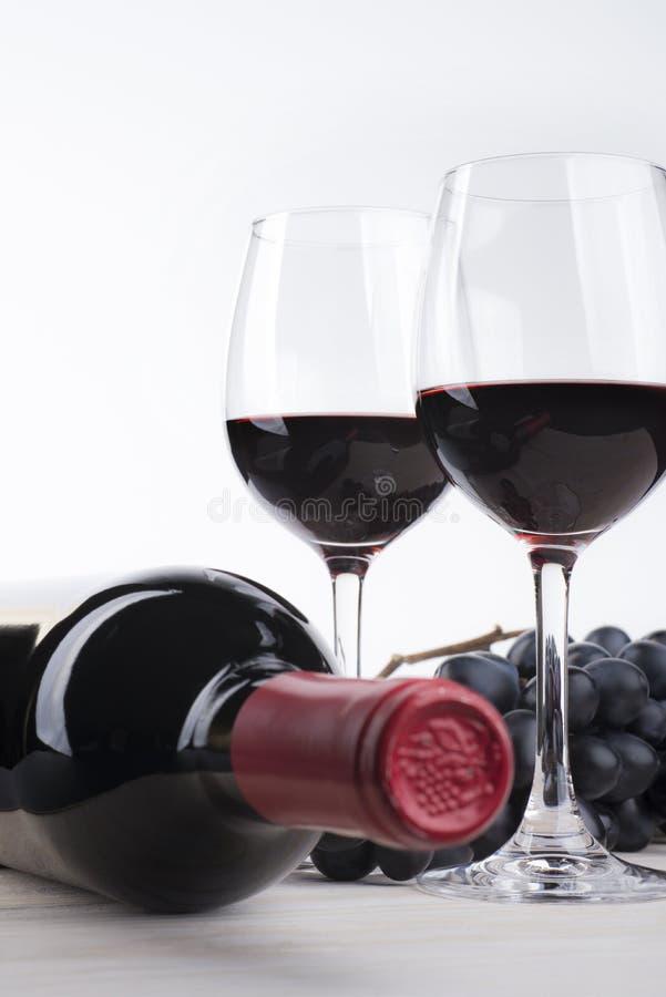 Enkelt rött vin royaltyfria foton