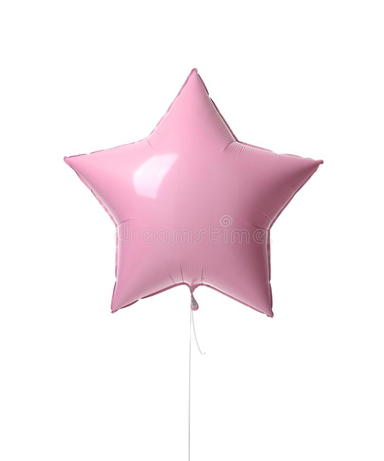Enkelt rosa stort objekt för 36 tum metalliskt ballongstjärna för födelsedag royaltyfri foto