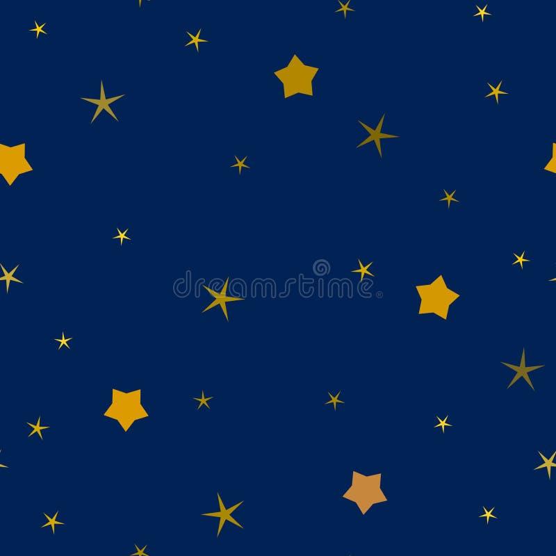 Enkelt sömlöst för stjärnailustrationsvektor stock illustrationer