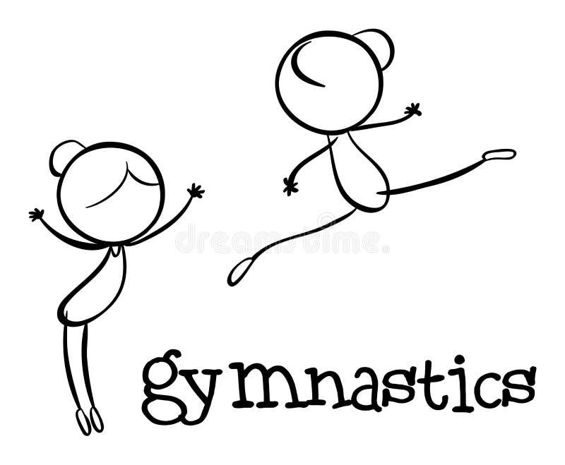 Enkelt sportdiagram royaltyfri illustrationer