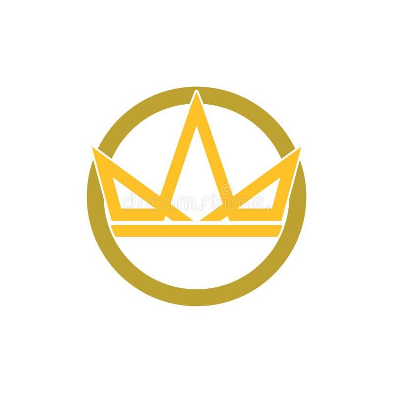 Enkelt symbol för kronaLogo Royal King Queen begrepp royaltyfri illustrationer