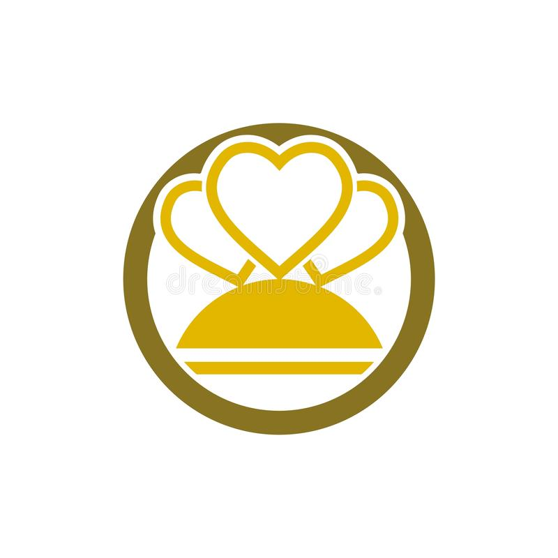Enkelt symbol f?r kronaLogo Royal King Queen begrepp vektor illustrationer