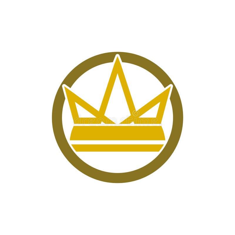 Enkelt symbol f?r kronaLogo Royal King Queen begrepp royaltyfri illustrationer