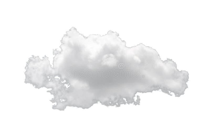 Enkelt vitt moln för natur som isoleras på vit bakgrund arkivfoton