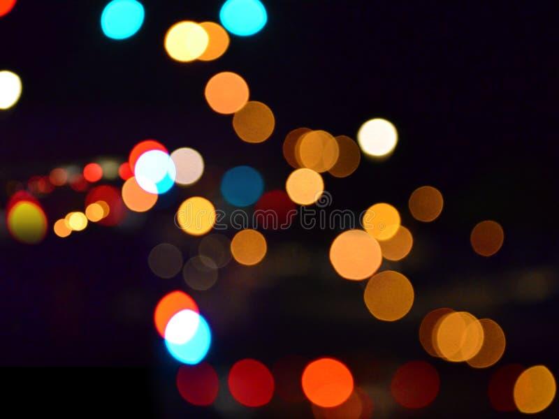 Enkla Bokeh på natten arkivbild