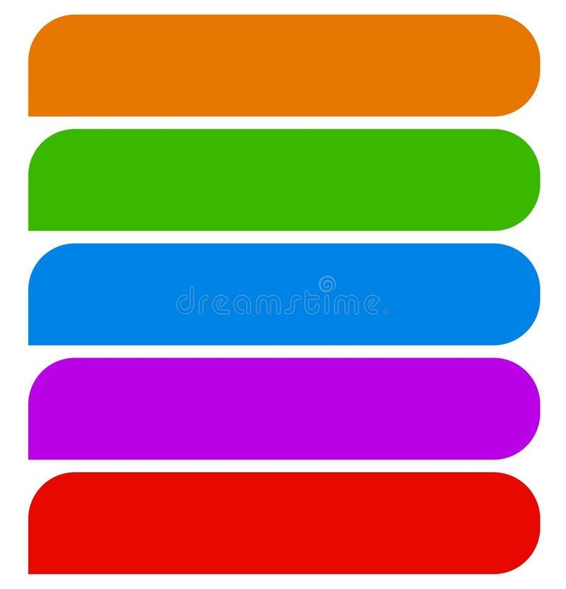 Enkla former för knapp (eller banret), bakgrund i matcha färg 5 stock illustrationer