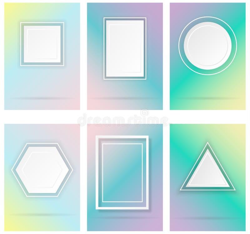 Enkla geometriska former vektor illustrationer