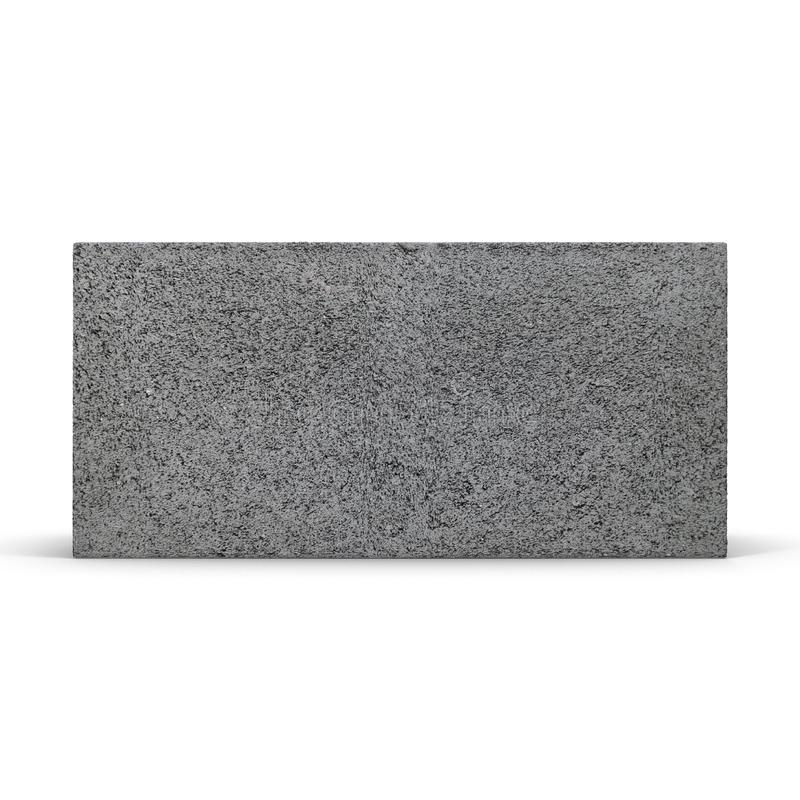 Enkla Gray Concrete Cinder Block Isolated på den vita illustrationen 3D royaltyfri illustrationer