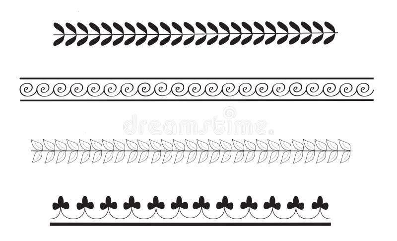 enkla grekiska modeller för forntida kant vektor illustrationer