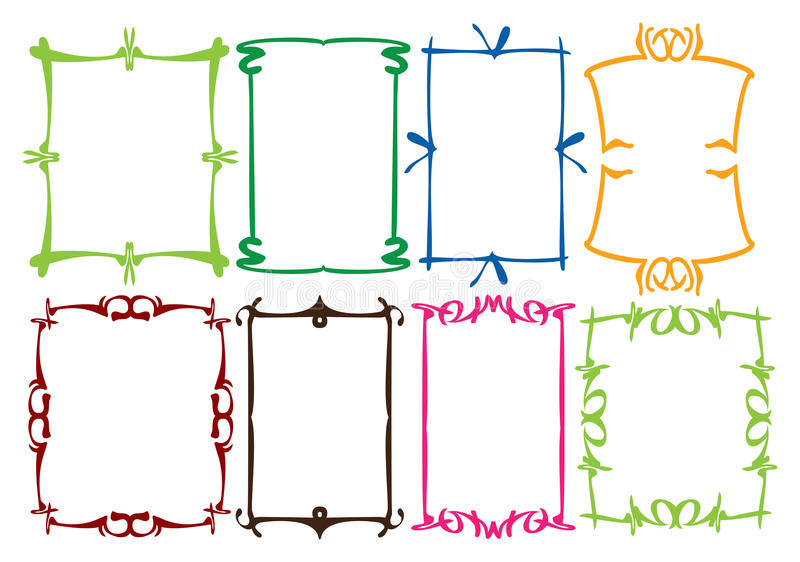 Enkla kantdesigner royaltyfri illustrationer