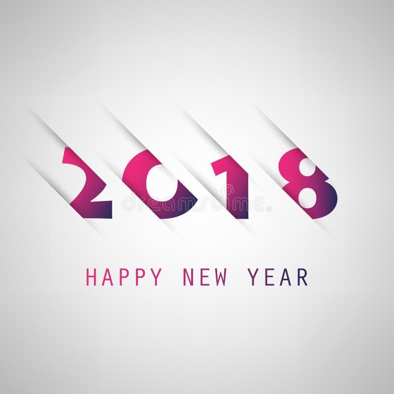 Enkla lilor och blå för kort-, räknings- eller bakgrundsdesign för nytt år mall - 2018 stock illustrationer