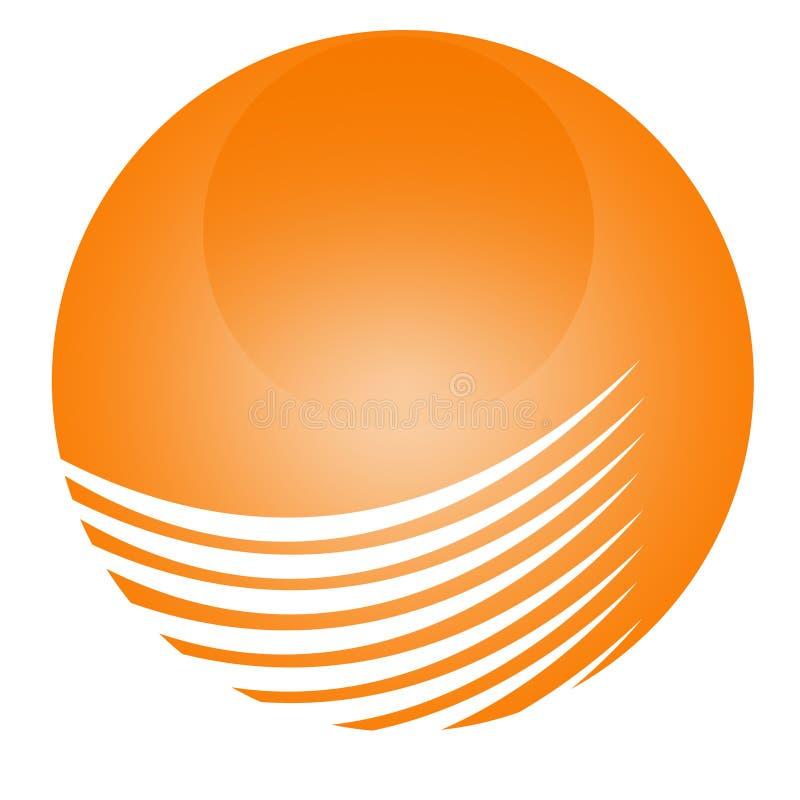 Enkla Logo Circle Orange 3D arkivfoto