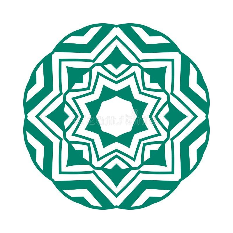 Enkla Mandala Shape logo vektor illustrationer