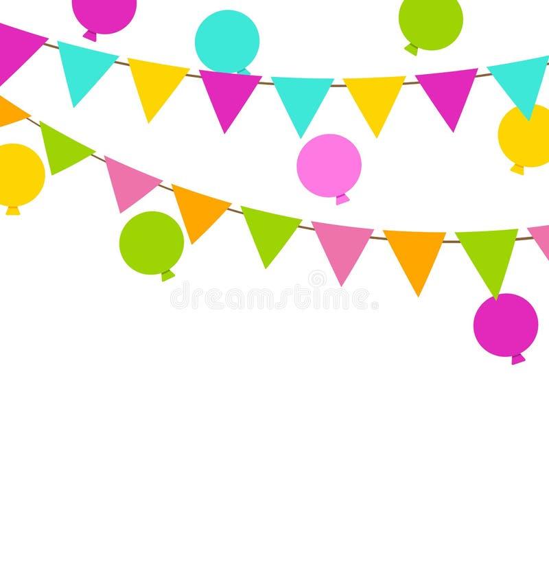 Enkla Multicoloredl Buntings sjunker och sväller vektor illustrationer