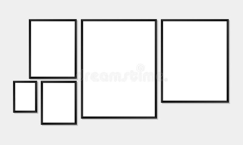Enkla ramar vektor illustrationer