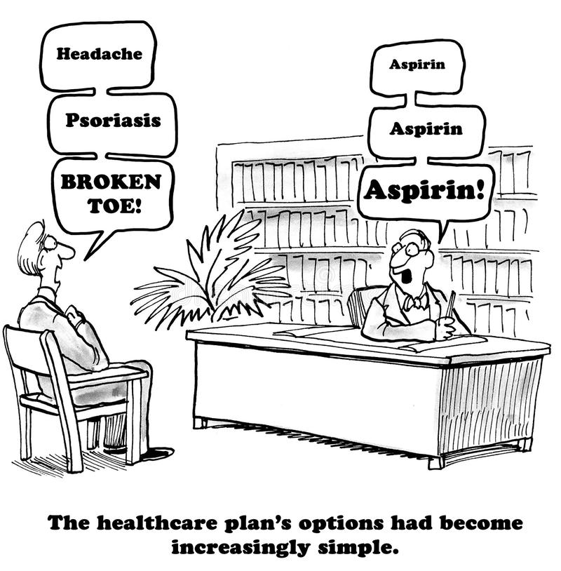 Enkla sjukförsäkringalternativ royaltyfri illustrationer