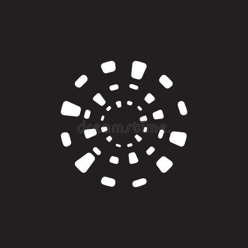 Enkla strålar formar geometrisk logo vektor illustrationer