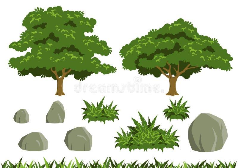 Enkla trädvektorer vektor illustrationer