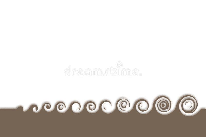 enkla waves stock illustrationer