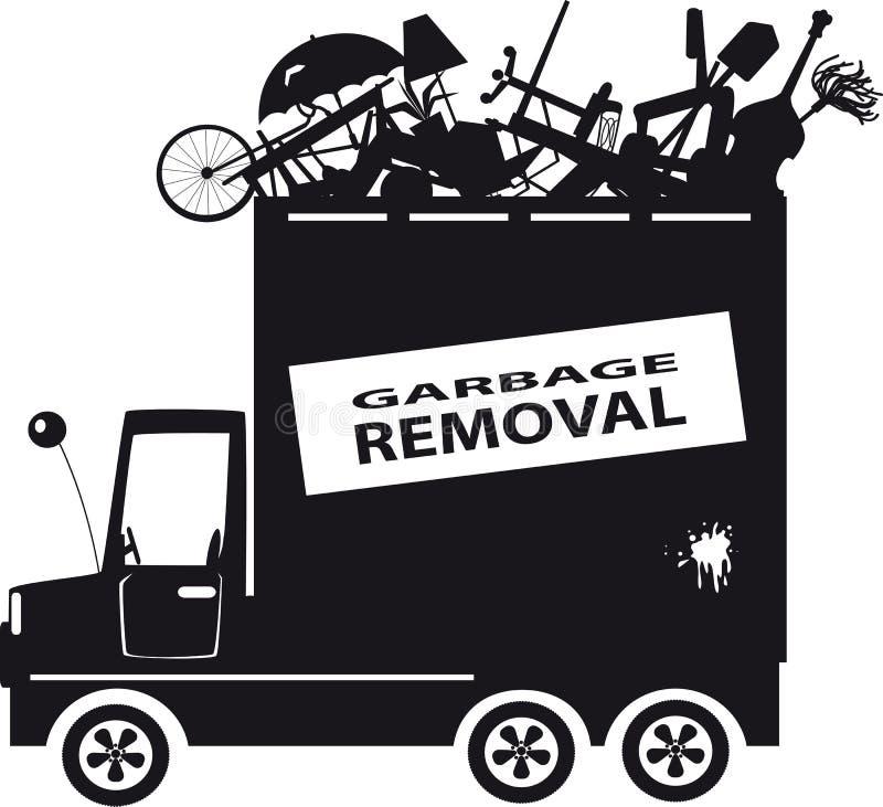 Enlèvement de déchets illustration de vecteur