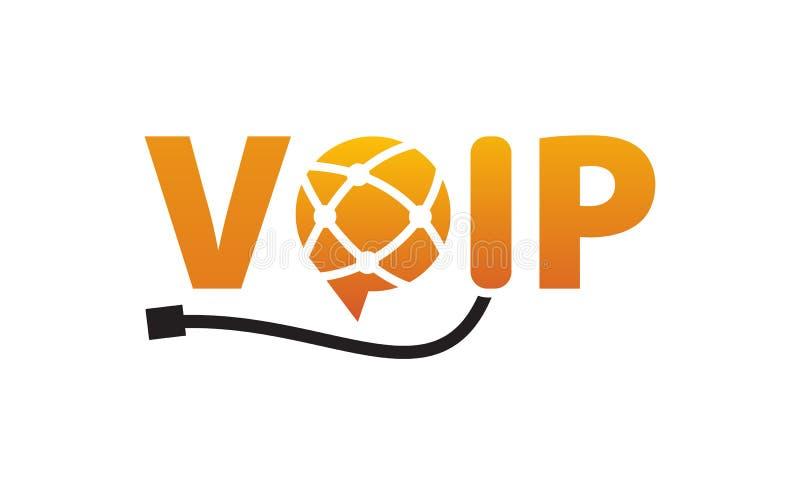 Enlace de comunicaciones del mensaje de Voip ilustración del vector