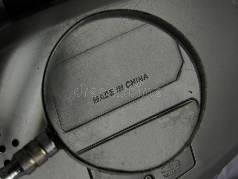 Enlarged Made In China Label royalty free stock image