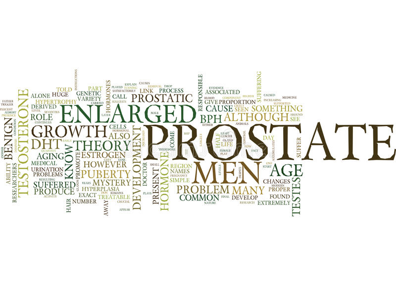 Enlarged Prostate The Cause Remains A Mystery Word Cloud Concept vector illustration