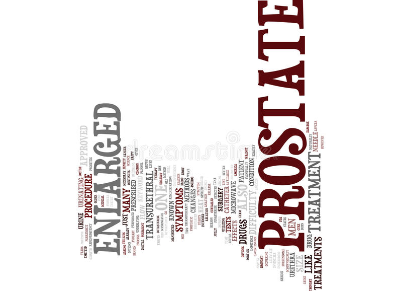 Enlarged Prostate Treatment Text Background Word Cloud Concept stock illustration