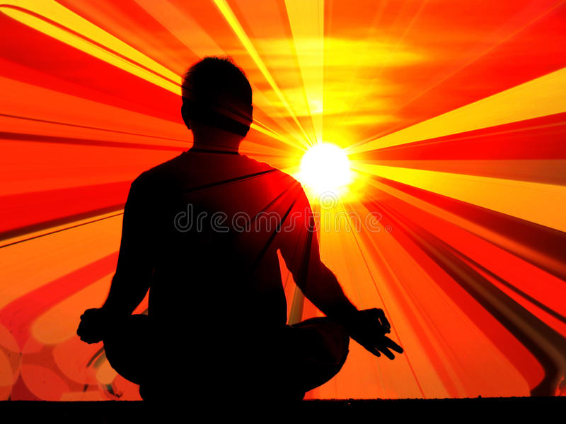 Enlightening Meditation royalty free stock photography