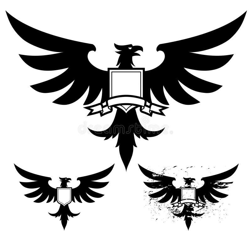 Ennegrezca el águila stock de ilustración