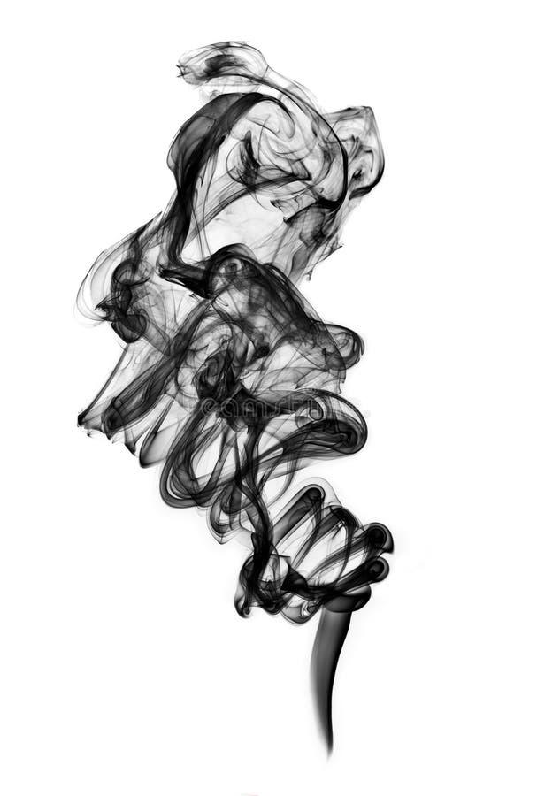 Ennegrezca el humo aislado imagen de archivo libre de regalías