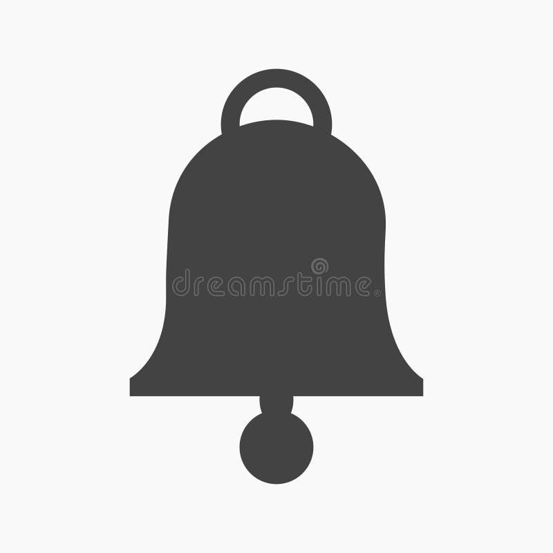 Ennegrezca el icono plano de la campana ilustración del vector
