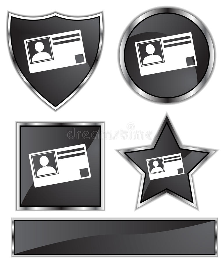 Ennegrezca el satén - tarjeta de la identificación ilustración del vector