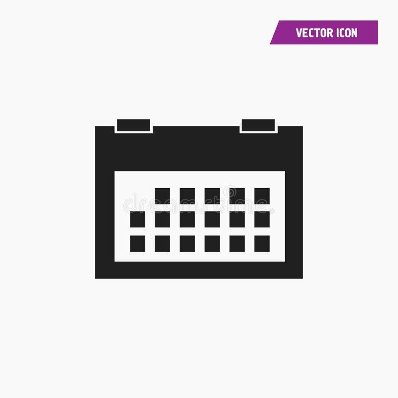 Ennegrezca el vector plano del icono del calendario de pared stock de ilustración