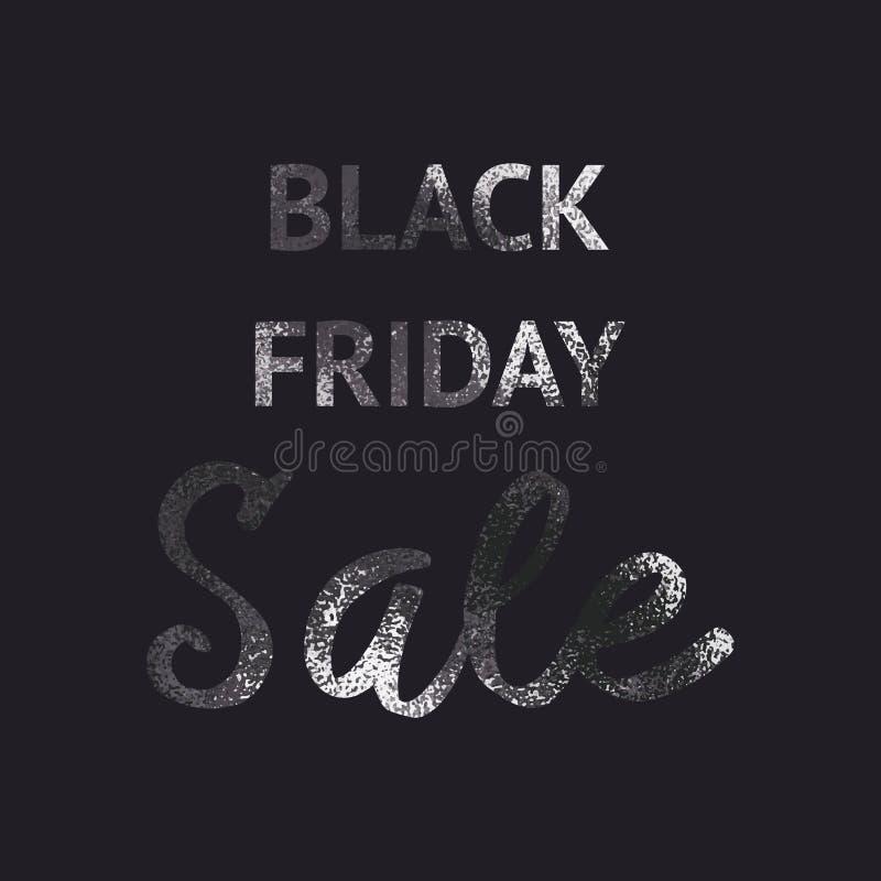 Ennegrezca viernes Brillo negro Fondo elegante stock de ilustración