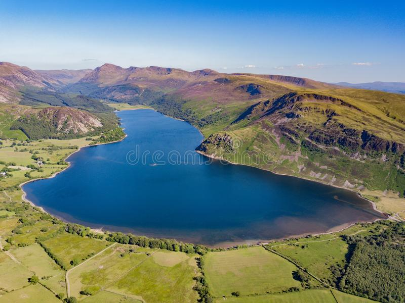 Ennerdale Water in Cumbia, UK royalty free stock photos