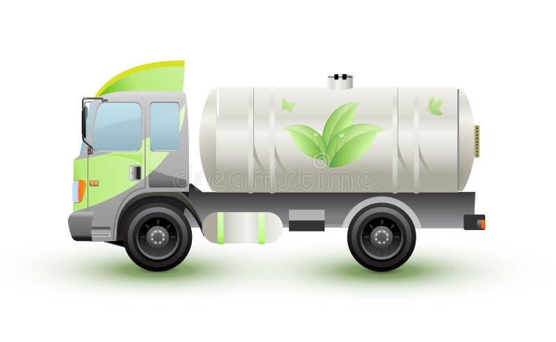 ennergy卡车的天然气或的eco 向量例证