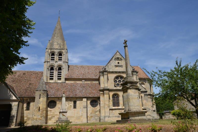 Ennery, France - june 29 2015 : the saint Aubin churc royalty free stock image
