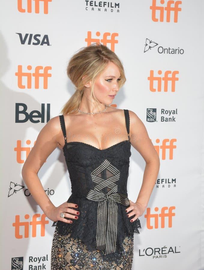 ennifer Lawrence bij `-Moeder` Première bij Internationaal de Filmfestival van Toronto royalty-vrije stock afbeelding