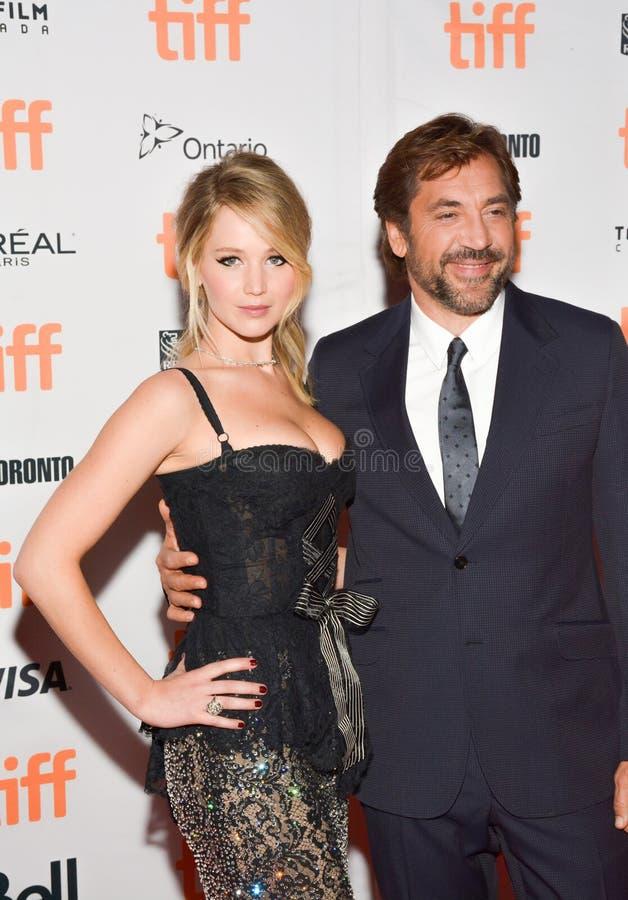 ennifer Lawrence na premier do ` da mãe do ` no festival de cinema do International de Toronto fotos de stock royalty free