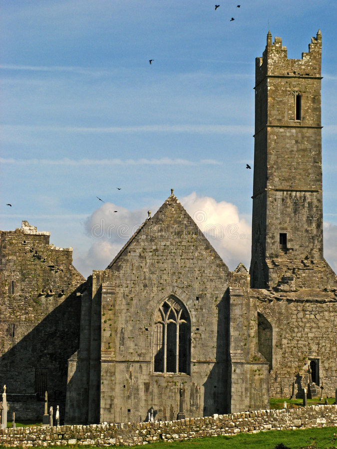 Ennis Friary 03. Ennis Friary in Ennis, County Clare, Ireland royalty free stock photography