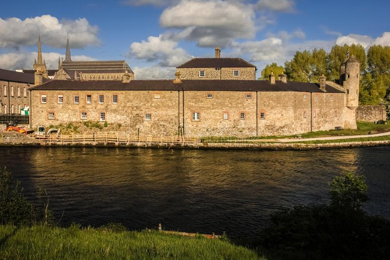 Enniskillen Castle. county Fermanagh. Northern Ireland. Enniskillen Castle by the river Erne. county Fermanagh. Regimental Museum of the Royal Inniskilling stock photography
