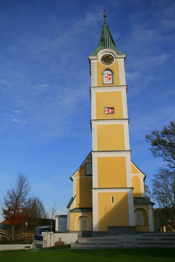 Enns на сумраке, Австрии стоковые фото