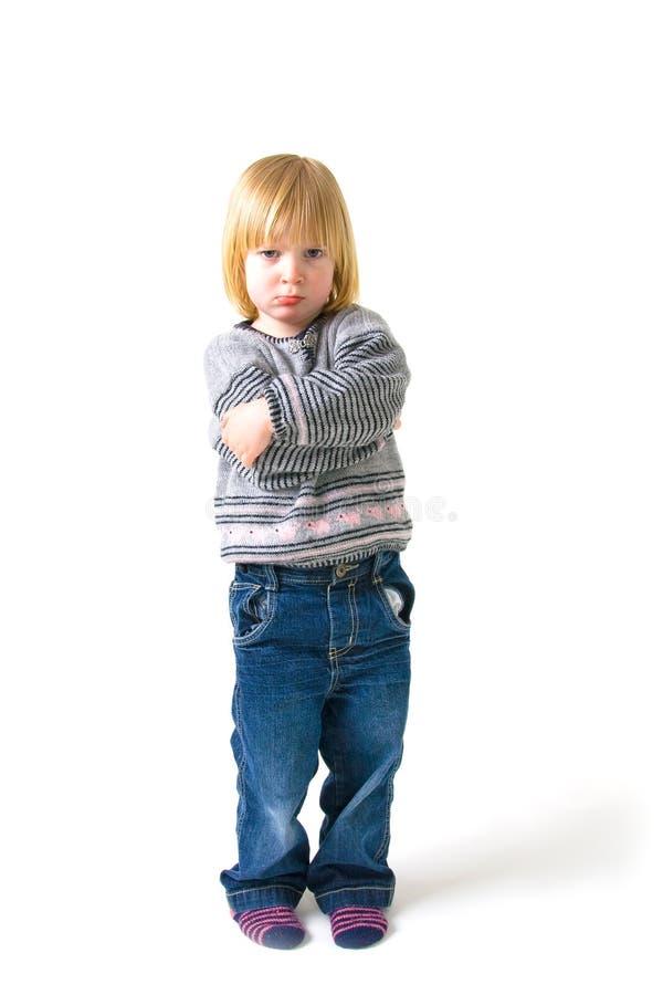 Enojado del niño enfadado fotografía de archivo