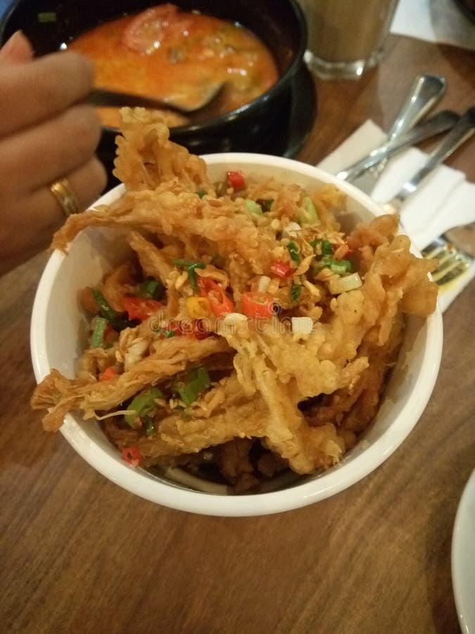 Enoki Crispy. Name: Enoki MushroomScientific Name: Flammulina veluptipesOrigin China, Japan and Korea. A kind of healthy food. Benefit of enoki is Immune stock images