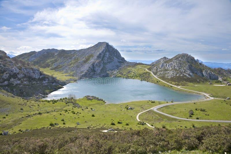 Download Enol lake in Asturias stock photo. Image of covadonga - 26591544