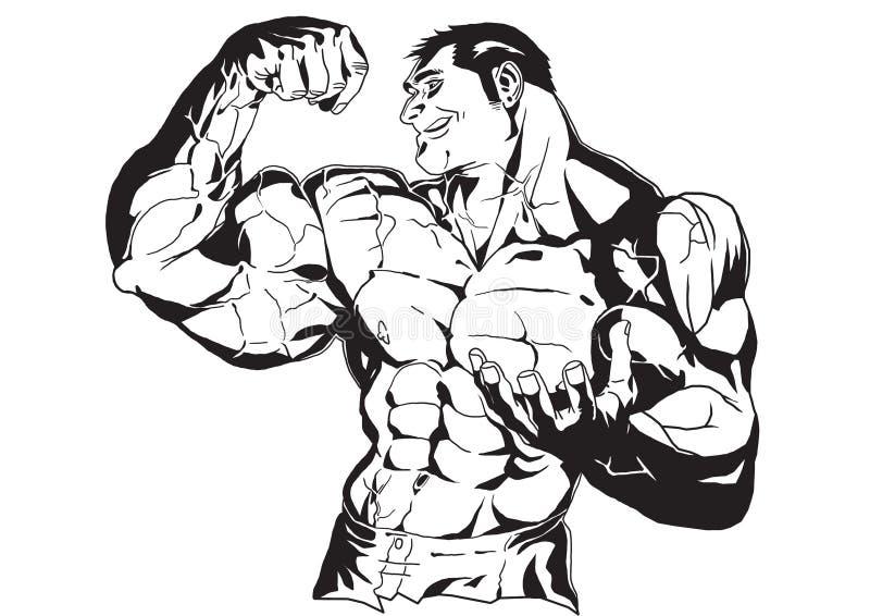 Enorm biceps vektor illustrationer