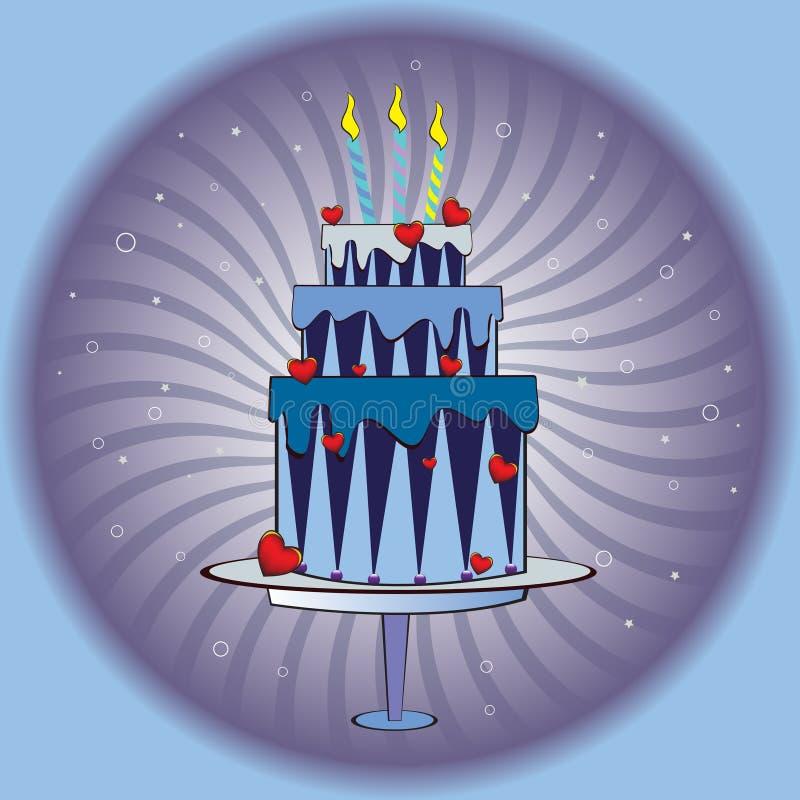 enorm cake vektor illustrationer