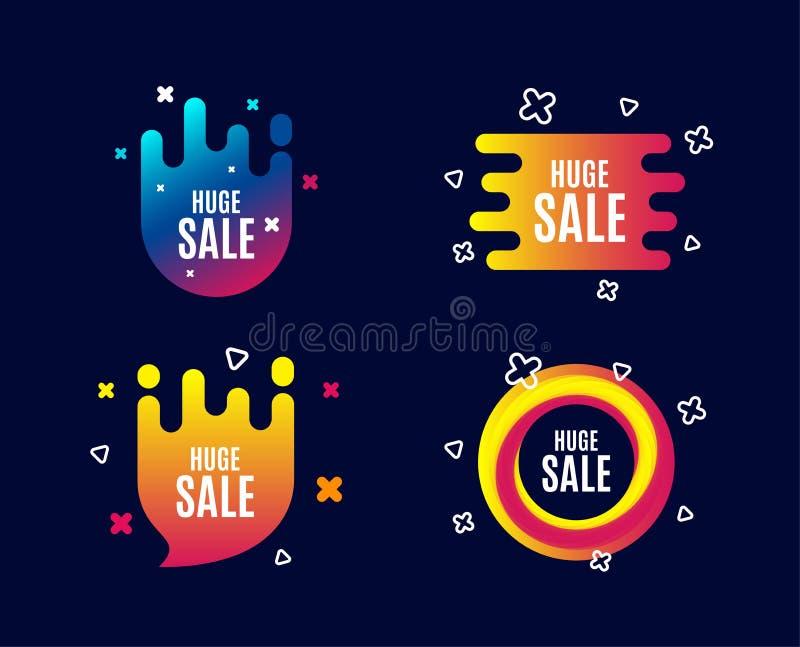 enorm försäljning Tecken för pris för specialt erbjudande vektor illustrationer